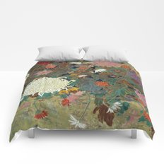 flower【Japanese painting】 Comforters