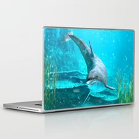 dolphin Laptop & iPad Skins featuring Dolphin by Simone Gatterwe
