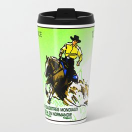 2014 FEI World Equestrian Games in Normandy Renting stamp Travel Mug