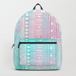 Hand Drawn African Patterns - Pastel Pink & Turquoise Backpack
