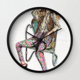 Floral Fashion Wall Clock
