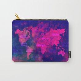 world map 114 3D #worldmap #map Carry-All Pouch