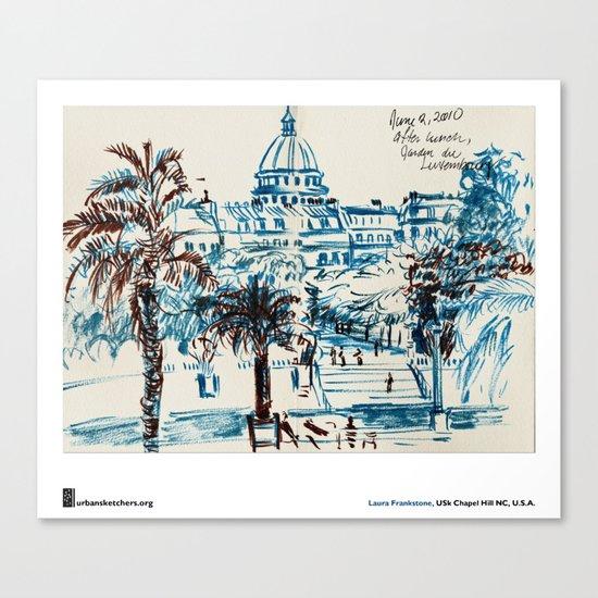 """Laura Frankstone, """"Jardin du Luxembourg, Paris"""" Canvas Print"""