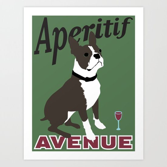 Aperitif Avenue Art Print