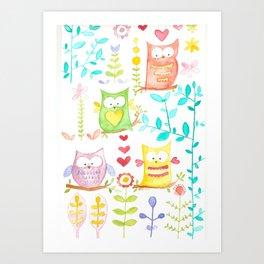 happy owl day Art Print