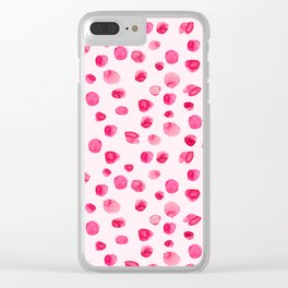 Think pink || Watercolor brushstrokes pattern Clear iPhone Case