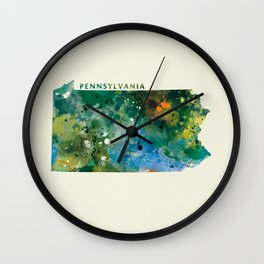 Pennsylvania Wall Clock