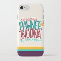 indiana iPhone & iPod Cases featuring Pawnee, Indiana by Chelsea Herrick
