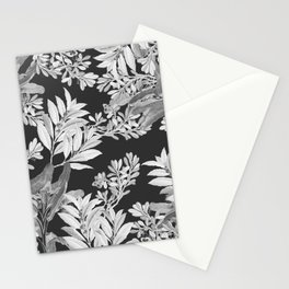 Black and White Leaves Stationery Cards