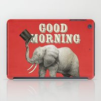 good morning iPad Cases featuring Good Morning by Eric Fan
