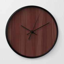 Chestnut Mesh Wall Clock