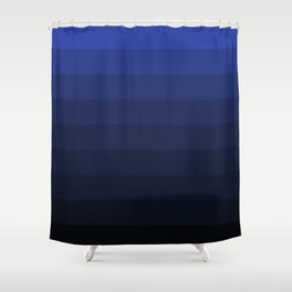Black and blue striped Ombre Shower Curtain