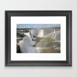 iguazu falls Framed Art Print