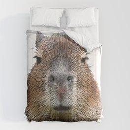 Capybara Face Hairy Front Classy Axpect Mammal Comforters