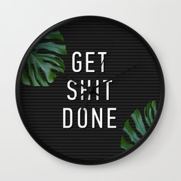 Get Shit Done Letter Board Wall Clock