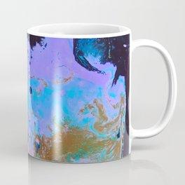 Ultra Violet Abstract Bat Painting by Noora Elkoussy Coffee Mug