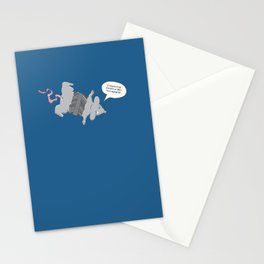 I should've stayed in bed... Stationery Cards