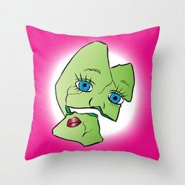 Baby Doll Frankenstein Throw Pillow