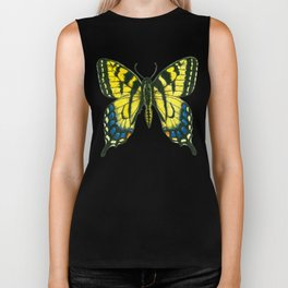 Tiger swallowtail butterfly watercolor and ink Biker Tank