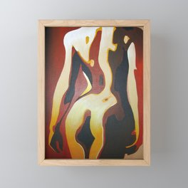 Back View Of A Nude Woman Framed Mini Art Print