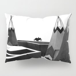Cabins in BW Pillow Sham