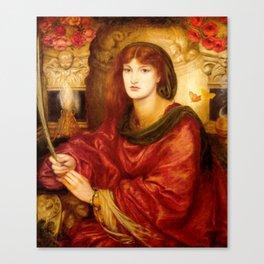 "Dante Gabriel Rossetti ""Sibylla Palmifera"" Canvas Print"