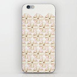 Rose Gold Watercolor Tile iPhone Skin
