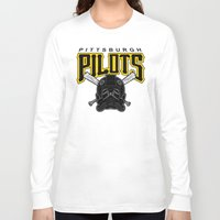 pittsburgh Long Sleeve T-shirts featuring Pittsburgh Pilots by Ant Atomic