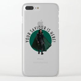 your saviour is here Clear iPhone Case