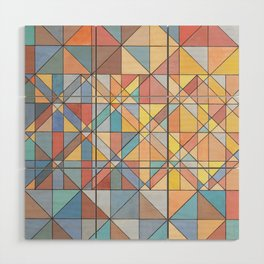 Triangle Pattern no.16 Pastels Wood Wall Art