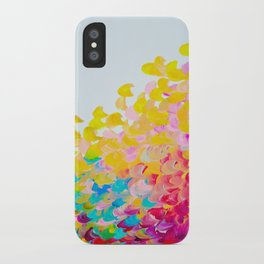 CREATION IN COLOR - Vibrant Bright Bold Colorful Abstract Painting Cheerful Fun Ocean Autumn Waves iPhone Case