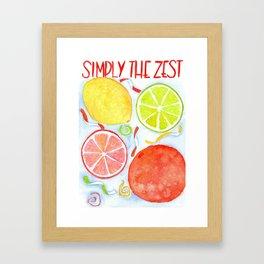simply the zest Framed Art Print