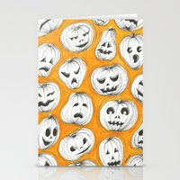 pumpkin Stationery Cards featuring Pumpkin by Saoirse Mc Dermott