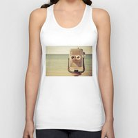 star Tank Tops featuring Robot Head by Olivia Joy StClaire
