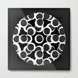 Centro en grises 135 x 135 Glojag Metal Print