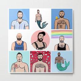 Beard Boy: Rainbow Boys 3 Metal Print