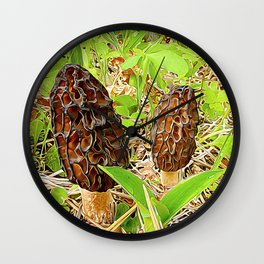 Morchella surrealis Wall Clock