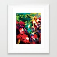 avenger Framed Art Prints featuring Color Avenger! by Jesus De La Mora
