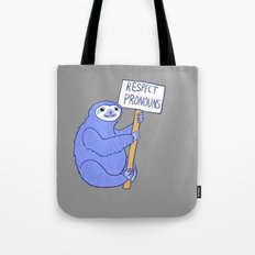 Trans Rights Sloth Tote Bag