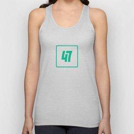 47 - Hero Outline Unisex Tank Top