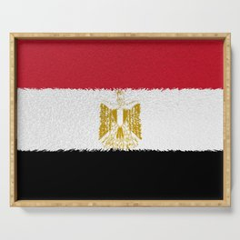 Flag of Egypt - Extruded Serving Tray