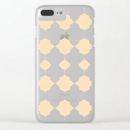 Peachy_Geo_Love_ Clear iPhone Case
