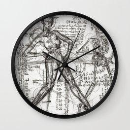 Clone Death - Intaglio / Printmaking Wall Clock