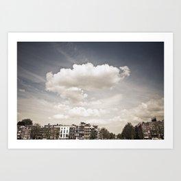 Amsterdam Clouds Art Print