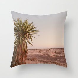High Desert Sunset Throw Pillow