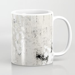 Grey and White Abstract with Black Texture: Scribble Series 02 Coffee Mug