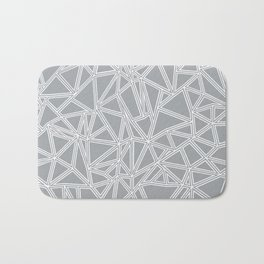Shattered Ab Grey and White Bath Mat