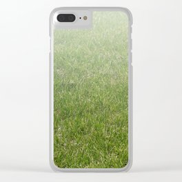 Light-to-Dark Green Ombre Gradient Grass Clear iPhone Case