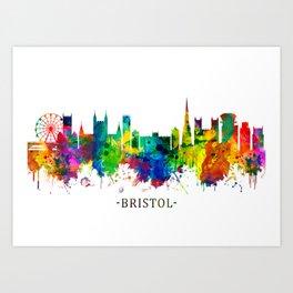 Bristol England skyline Art Print
