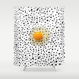 Egg Over Freckles Shower Curtain